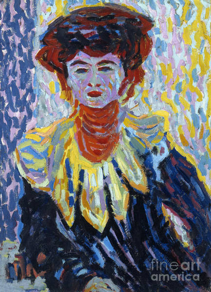 Wall Art - Painting - Doris With Ruff Collar by Ernst Ludwig Kirchner