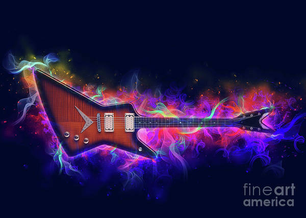 Wall Art - Digital Art - Electric Guitar Art by Ian Mitchell