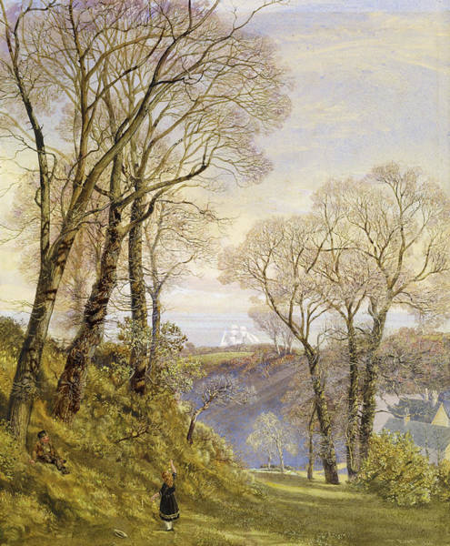 Wall Art - Painting - February In The Isle Of Wight by John Brett