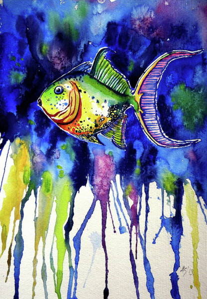 Wall Art - Painting - Fish by Kovacs Anna Brigitta