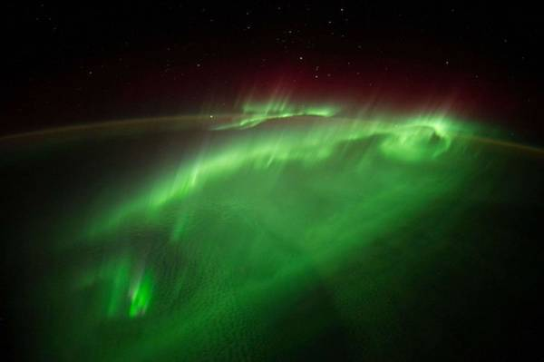 Wall Art - Painting - Flying Through An Aurora by Celestial Images