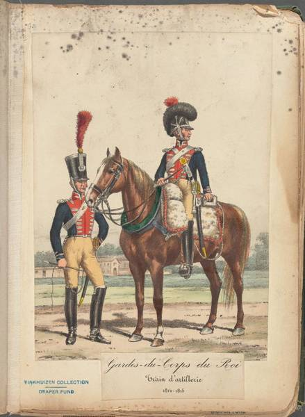Wall Art - Painting - French Soldier In Uniform, France, 1800s - 18 by Celestial Images
