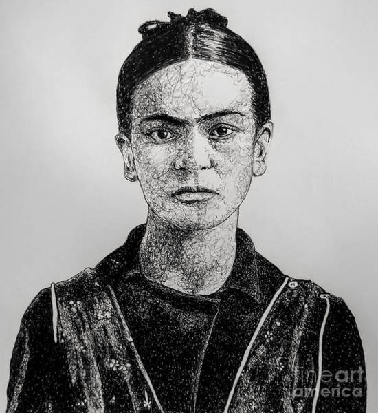 Drawing - Frida by CK Mackie