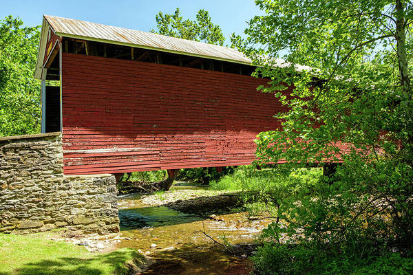 Wall Art - Photograph - G Donald Mclaughlin Memorial Covered Bridge, Pennsylvania by Mark Summerfield