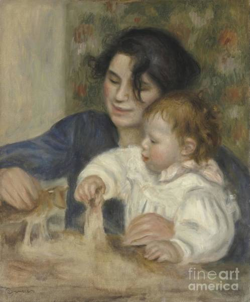 Painting - Gabrielle And Jean by Auguste Renoir