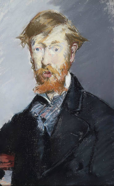 Pastel - George Moore  by Edouard Manet