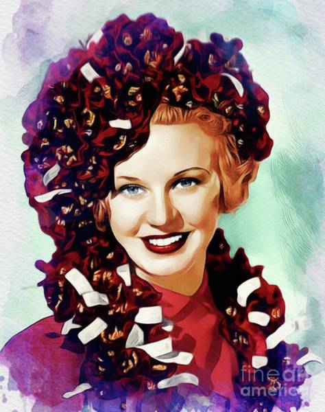 Wall Art - Painting - Ginger Rogers, Hollywood Legend by John Springfield