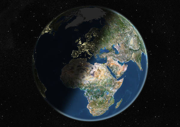 Wall Art - Photograph - Globe Centred On Europe And Africa by Uig