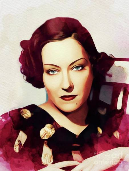 Wall Art - Painting - Gloria Swanson, Vintage Actress by John Springfield