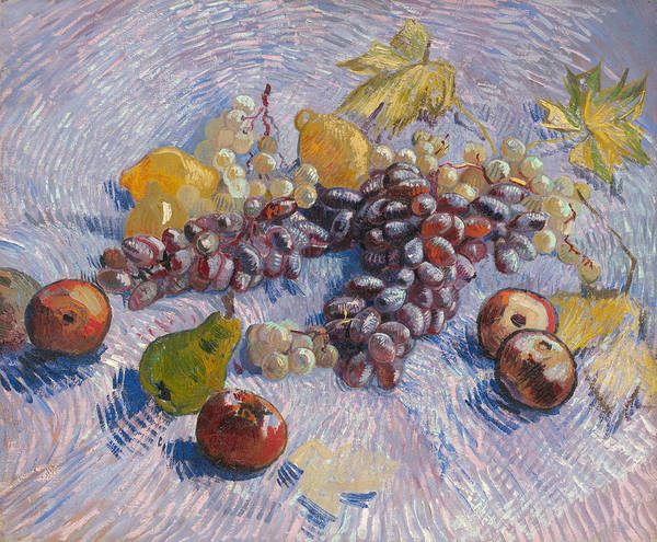 Wall Art - Painting - Grapes, Lemons, Pears, And Apples by Vincent van Gogh