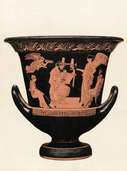 Ancient Greek Photograph - Greek Vase by Hulton Archive
