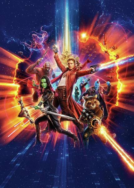 Galaxies Digital Art - Guardians Of The Galaxy Vol. 2 by Geek N Rock