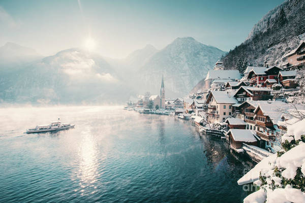 Wall Art - Photograph - Hallstatt Winter Dreams by JR Photography