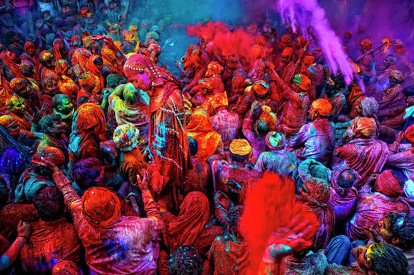 Wall Art - Photograph - Holi, The Festival Of Colors, India by Poras Chaudhary