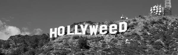 Wall Art - Photograph - Hollywood Sign Changed To Hollyweed by Panoramic Images