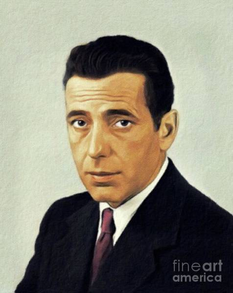 Wall Art - Painting - Humphrey Bogart, Vintage Actor by John Springfield