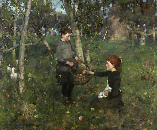 Wall Art - Painting - In The Orchard by James Guthrie