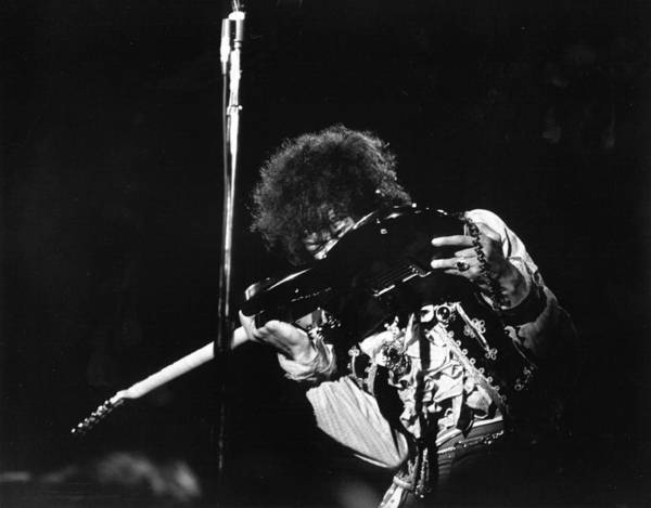 Jimi Hendrix Photograph - Jimi At Monterey by Michael Ochs Archives