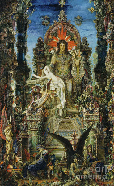 Wall Art - Painting - Jupiter And Semele by Gustave Moreau