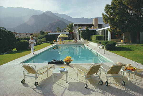 Lounge Chair Photograph - Kaufmann Desert House by Slim Aarons