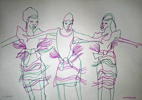 Painting - Kiganda Traditional Dance Uganda by Gloria Ssali