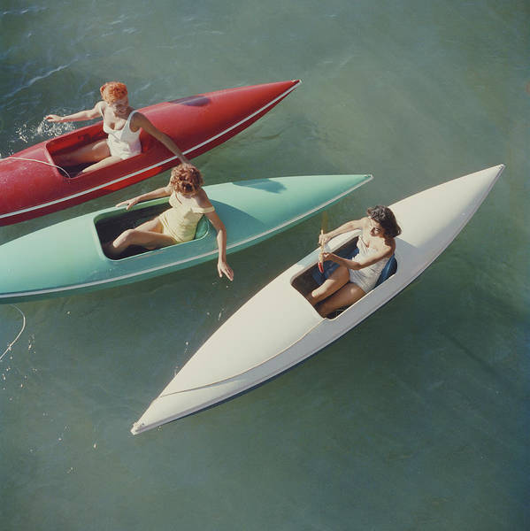 People Photograph - Lake Tahoe Trip by Slim Aarons