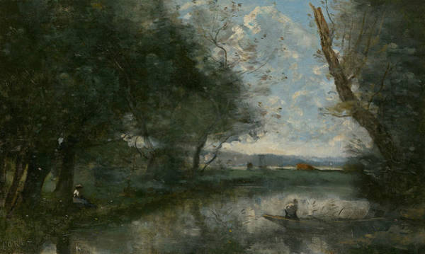 Wall Art - Painting - Landscape by Jean-Baptiste-Camille Corot