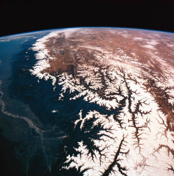 Wall Art - Photograph - Landscape Of Earth Viewed From Space by Stockbyte