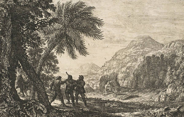 Relief - Landscape With Brigands by Claude Lorrain