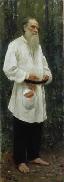 Wall Art - Painting - Leo Tolstoy Barefoot by Ilya Repin