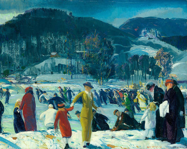 Wall Art - Painting - Love Of Winter by George Bellows