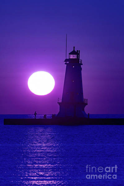 Wall Art - Photograph - Ludington Breakwater Lighthouse by Todd Bielby