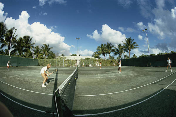 Court Photograph - Lyford Cay by Slim Aarons