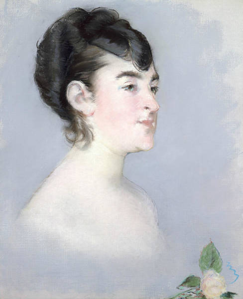 Pastel - Mademoiselle Isabelle Lemonnier  by Edouard Manet