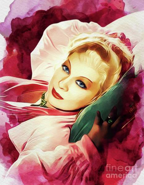 Wall Art - Painting - Mae West, Vintage Actress by John Springfield