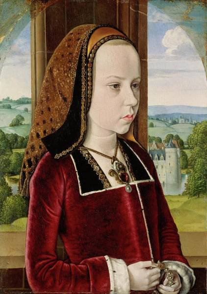 Wall Art - Painting - Margaret Of Austria by Jean Hey