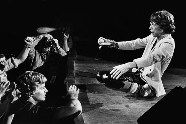 Photograph - Mick Jagger Of The Rolling Stones In by George Rose