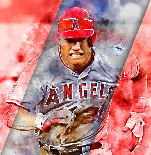 Mixed Media - Mike Trout by Marvin Blaine