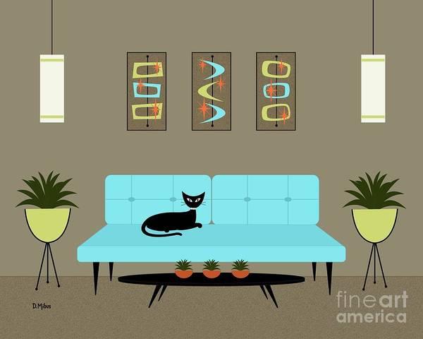 Wall Art - Digital Art - Mini Mid Century Shapes by Donna Mibus