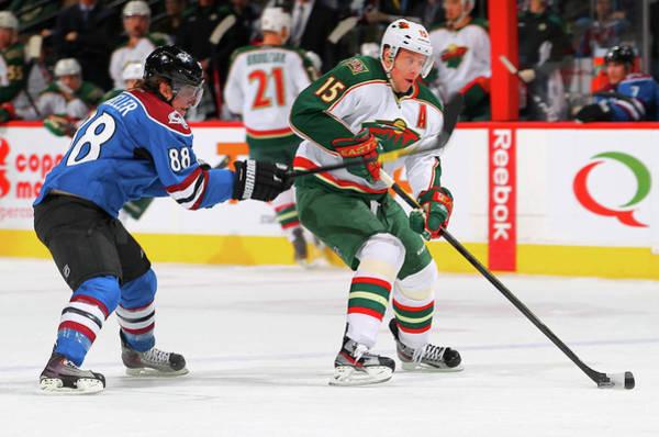 National Hockey League Photograph - Minnesota Wild V Colorado Avalanche by Doug Pensinger