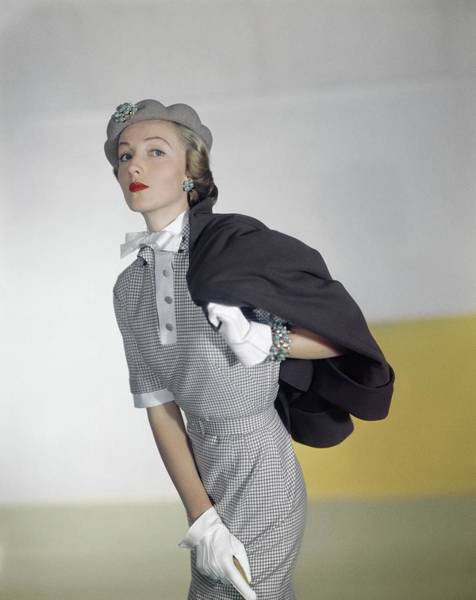 Photograph - Model In A Vogue Patterns Ensemble by Horst P. Horst