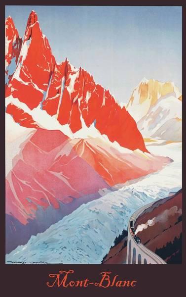 Mont Blanc Wall Art - Digital Art - Mont Blanc by Long Shot