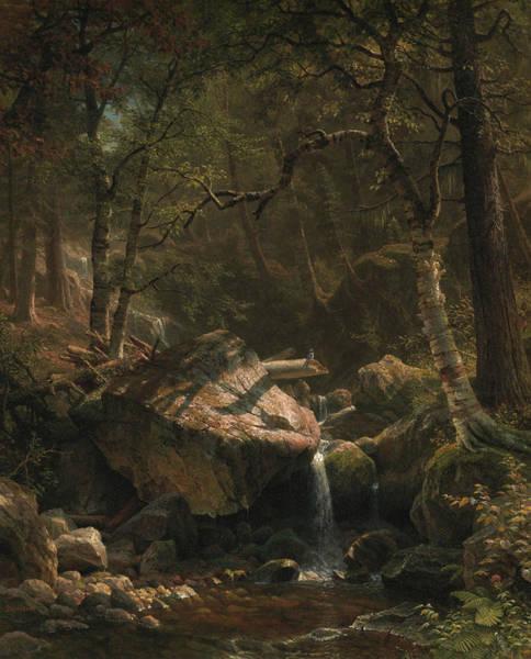Wall Art - Painting - Mountain Brook by Albert Bierstadt