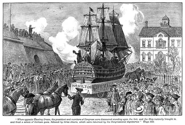 Photograph - New York Parade, 1788 by Granger