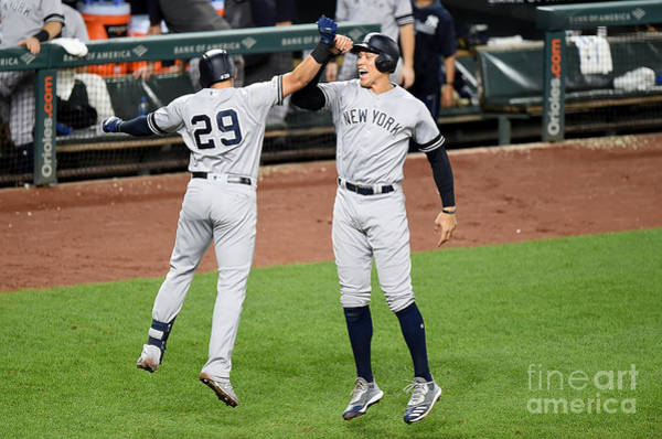 Wall Art - Photograph - New York Yankees V Baltimore Orioles by Greg Fiume