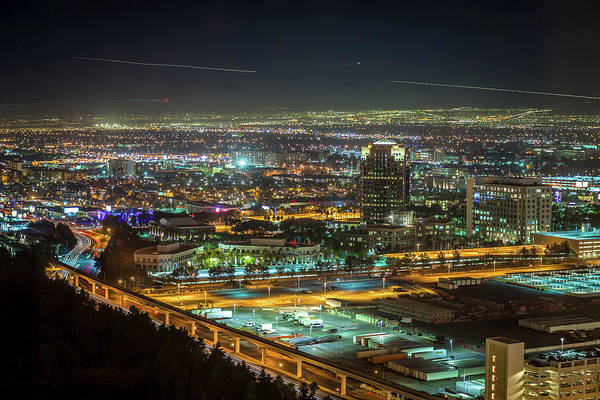 Photograph - Night Time To Sunrise In Las Vegas by Alex Grichenko
