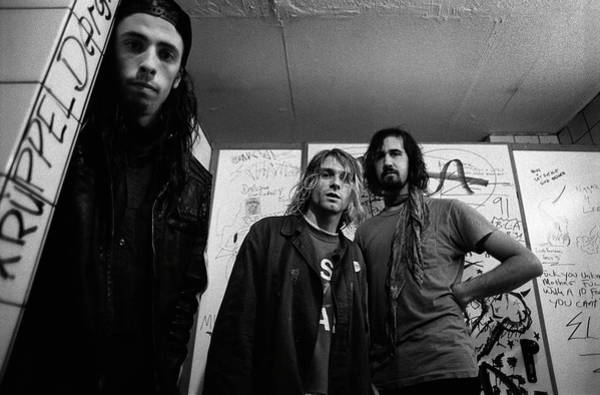 Wall Art - Photograph - Nirvana Posed In Frankfurt 1991 by Paul Bergen