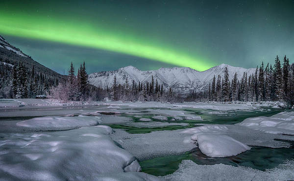 Wall Art - Photograph - Northern Lights, Annie Lake, Yukon by Jonathan Tucker
