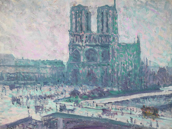 Wall Art - Painting - Notre-dame De Paris by Maximilien Luce