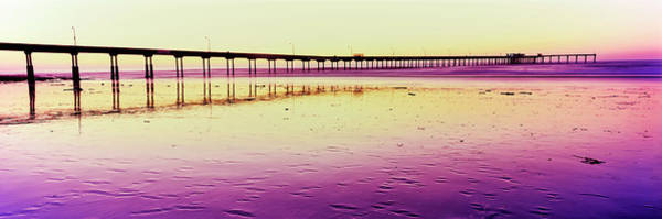 Wall Art - Photograph - Ocean Beach Pier At Sunset, San Diego by Panoramic Images